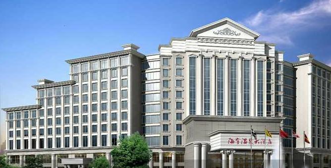 酒店建筑采取燕翼形设计,欧式风格,庄重大方,魅力非凡.