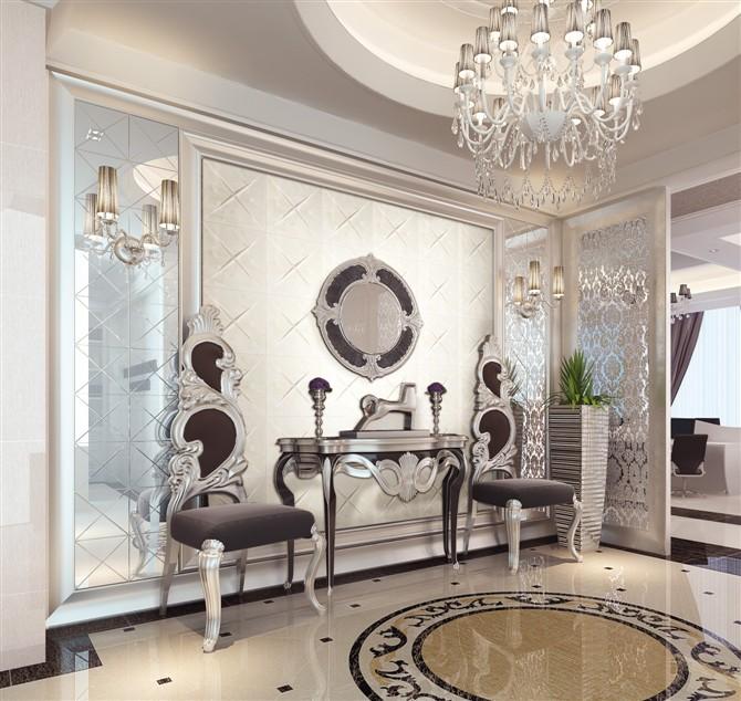 简约欧式风格背景墙 体验低调的奢华